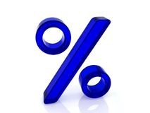 Blue percent Stock Images