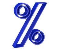 Blue percent sign Stock Photos