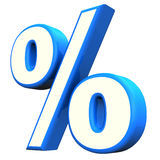 Blue Percent Symbol Stock Photo