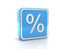 Blue percentage icon Royalty Free Stock Photo