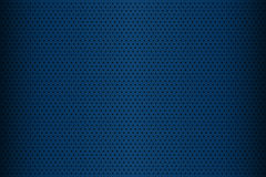 Blue perforated metal texture, abstract background. Vector illustration Royalty Free Stock Photo