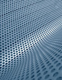 Blue perforated metallic grid. Perforated metallic grid, industrial background Stock Images