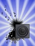 Blue performace, music Stock Images