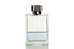 Blue perfume in bottle Stock Photo