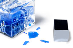 Blue  perfume Royalty Free Stock Photos