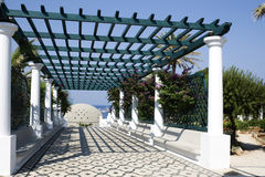 Blue Pergola Stock Photo