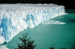 Blue Perito Moreno. In Argentina Stock Image