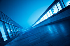 Blue perspective Royalty Free Stock Images