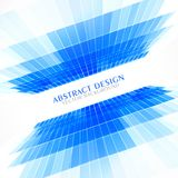 Blue perspective abstract background in business style presentat Stock Image