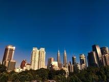 Blue petronas klcc twin towers Stock Photo