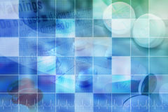 Blue Pharmecutical Pill Background with Grid royalty free stock image