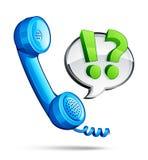 Blue phone dialogue bubble Stock Photos