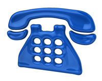 Blue phone icon Stock Images