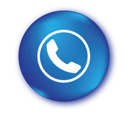 Blue Phone Icon Royalty Free Stock Photography