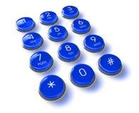 Free Blue Phone Keyboard Stock Photography - 14942452