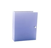 Blue photo album. Isolated on white Royalty Free Stock Images