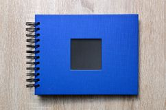 Blue photo album. Stock Photos
