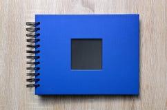 Blue photo album. Stock Photos
