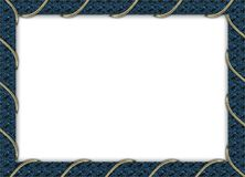 Blue photo frame. With a cord Royalty Free Stock Photos