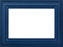 Blue photo frame Stock Photography