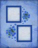 Blue photo frames Stock Images