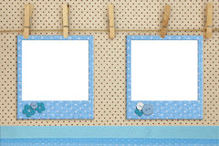 Blue photo frames Royalty Free Stock Photography