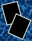 Blue Photo Page Royalty Free Stock Photography