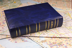 Blue photoalbum Royalty Free Stock Image