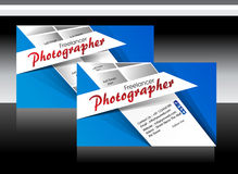 Blue photographer business card Royalty Free Stock Photography