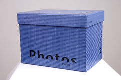 Blue Photos box Stock Photos