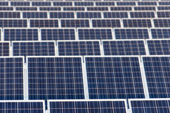 blue  Photovoltaic panels solar cells Stock Photos