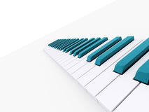 Blue piano keyboard rendered Stock Images