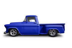 Blue pick up truck royalty free stock photos