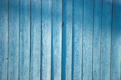 Blue picket fence. Fence coated with a thin layer of blue Royalty Free Stock Photos
