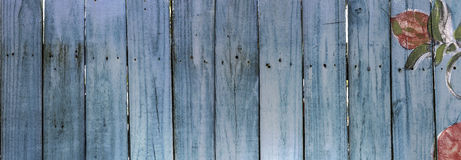 Blue Picket Fence Royalty Free Stock Photos
