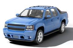 Blue pickup Stock Photography