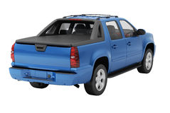 Blue pickup isolated. Blue pickup on a light background with shadow stock image