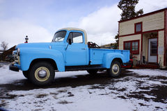 Blue pickup truck Stock Images