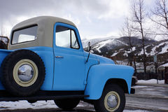 Blue pickup truck Royalty Free Stock Image