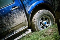 Blue pickup Stock Image