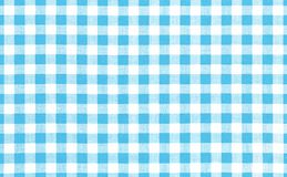 Blue picnic cloth background. Blue picnic cloth pattern wallpaper background.Kitchen menu backdrop.Retro fabric surface transparent Royalty Free Stock Photos