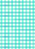 Blue picnic fabric watercolor pattern background Stock Photography