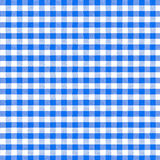 Blue picnic tablecloth seamless pattern Stock Images