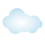 Blue picture cloud cumulus climate design. Illustration Royalty Free Stock Photo