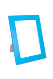 Blue picture frame. Isolated on white background royalty free stock photography