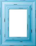 Blue picture frame. Blue antiqued picture frame for photos Royalty Free Stock Photo