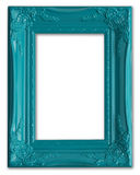 Blue picture frame. Contemporary blue picture frame isolated on white Stock Photo