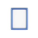Blue Picture Frame isolate on white Royalty Free Stock Images
