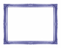 Blue picture frame on white Royalty Free Stock Photos