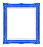 Blue picture frames. Isolated on black background Stock Images